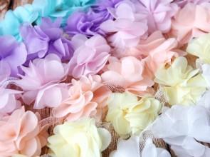 Кружева. Шифоновые цветы