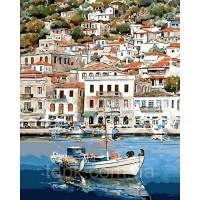 """Картины по номерам 40 х 50 см. \""""Греческий пейзаж\"""""""