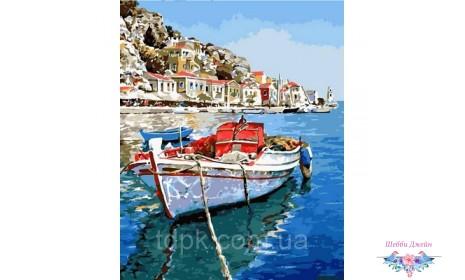 """Картины по номерам 40 х 50 см.\""""Лазурные воды Греции\"""""""