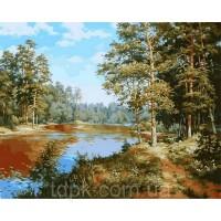 """Картины по номерам 40 х 50 см.  \""""Сосновый лес\"""""""