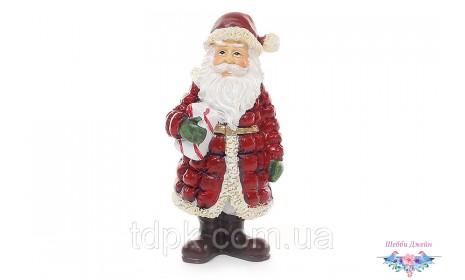 "Статуэтка декоративная новогодняя \""Санта Клаус\"" 15 см."