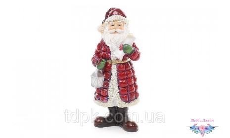 """Новогодняя декоративная статуэтка \""""Санта\"""" 11 см."""