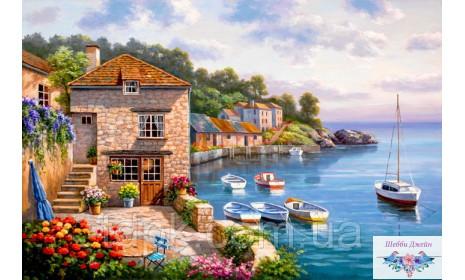"Картины по номерам 40 х 50 см.\""Дом на берегу океана\"""