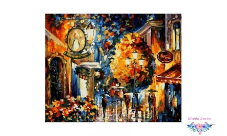 """Картины по номерам 40 х 50 см. \""""Кафе в старом городе\"""""""