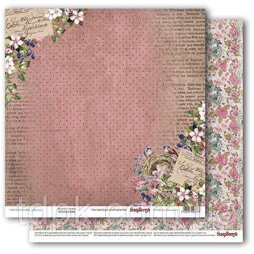 """Бумага ScrapBerry\""""s Бохо - Цветущий сад 30,5x30,5 см, 1 шт"""