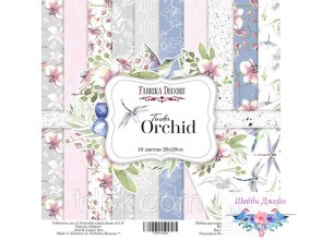 "Набор бумаги \""Tender orchid\"" 20 х 20 см. 10 листов"