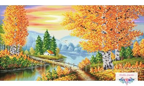 "Схема для вышивки бисером \""Осенняя феерия\"" 20х37 см."