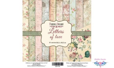 "Набор бумаги \""Letters of love\"" 30,5 х 30,5 см. 12 листов"