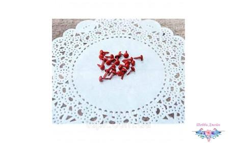 Набор красных брадсов 8 х 4,5 мм, 25 шт.