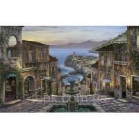 Картины по номерам 40 х 50 см. Город на закате