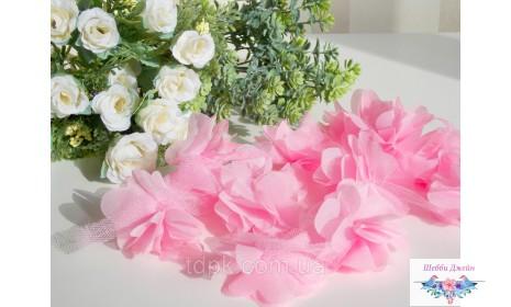 "Шифоновый цветок \""Роза\"" 1 шт."