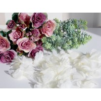 """Шифоновый цветок \""""Белый\"""" 1 шт."""