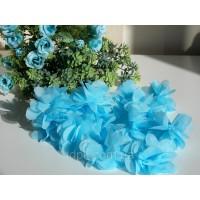 """Шифоновый цветок \""""Голубой\"""" 1 шт."""