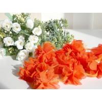 """Шифоновый цветок \""""Оранжево-красный\"""" 1 шт."""