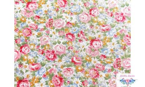 Отрез ткани нежные розы 50х48 см.