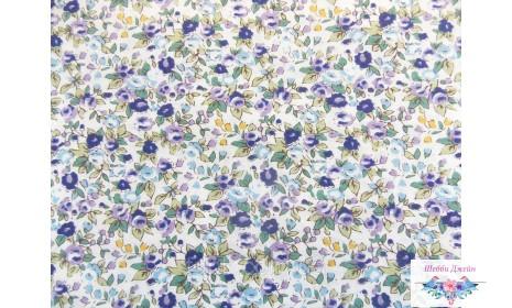 Отрез ткани фиолетовые розочки 48 х 49 см.