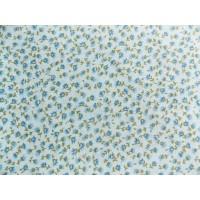 Отрез ткани синий цветочек на голубом 50 х 48 см.