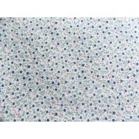Отрез ткани синие цветочки на бежевом 50 х 48 см.