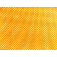 Отрез ткани горох на оранжевом 49 х 40 см.