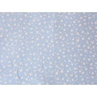 Отрез ткани цветы на голубом 50 х 40 см.