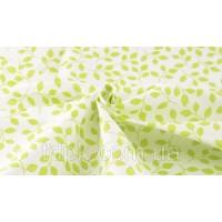 Отрез ткани зеленые листочки 40 х 50 см.