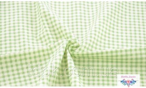 Отрез ткани зеленая клетка 50 х 40 см.