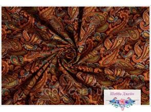 Отрез ткани восточные узоры на на коричневом 50 х 37 см.