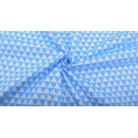 Отрез ткани голубые треугольники 50 х 40 см.