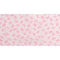 Отрез ткани розовые бантики на белом 40 х 50 см.