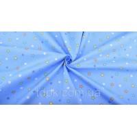 Отрез ткани звездочки на голубом 40 х 50 см.