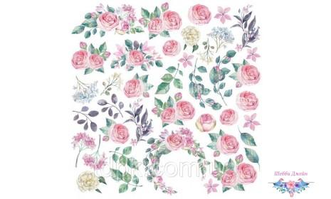 """Лист с картинками для вырезания \""""Mysterious garden\"""""""