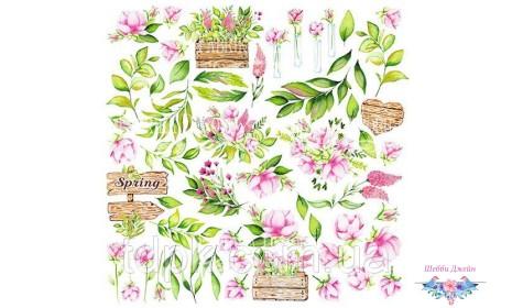 """Лист с картинками для вырезания \""""Spring blossom\"""""""