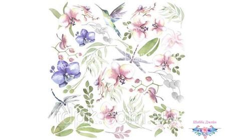 """Лист с картинками для вырезания \""""Wild orchid\"""""""