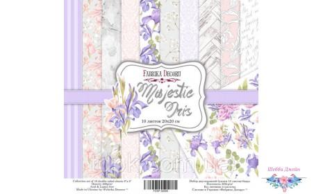 """Набор бумаги \""""Majestic Iris\"""" 20 х 20 см. 10 листов"""