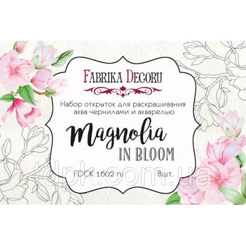 """Набор открыток для раскрашивания аква чернилами \""""Magnolia in bloom\"""""""