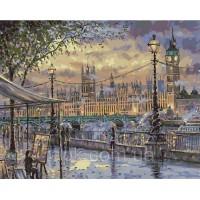 Картины по номерам 40 х 50 см. Вечерний Лондон.