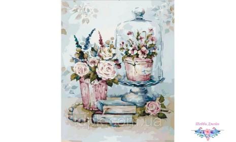 Картины по номерам Бирюзовый натюрморт 40 х 50 см.