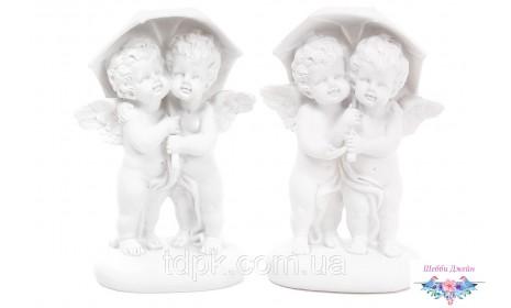 """Декоративная статуэтка \""""Ангелочки под зонтом\"""" 14 см."""