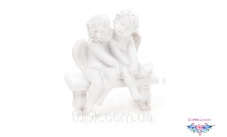 Декоративная статуэтка Ангелы на скамейке 8 см.