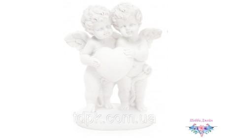 """Декоративная статуэтка \""""Ангелочки с сердечком\"""" 12 см."""