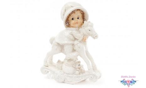 "Статуэтка декоративная \""Девочка на лошадке\"" 12 см."