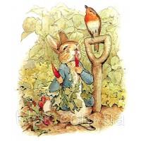 """Алмазная вышивка \""""Кролик Питер\"""" 20 х 30 см."""
