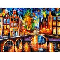 Картины по номерам 40 х 50 см. Огни Амстердама.