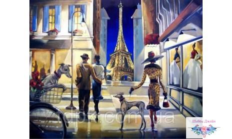 Картины по номерам 40 х 50 см. Прогулка по Парижу.