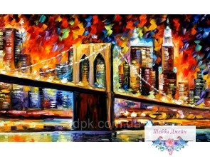 Картины по номерам 30 х 50 см. Бруклинский мост.
