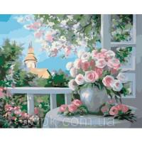 Картины по номерам 40 х 50 см. Шарм цветущего сада